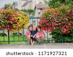 children standing in front of... | Shutterstock . vector #1171927321