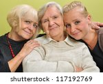 three women   three generations.... | Shutterstock . vector #117192769