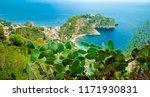 sicilian landscape with blue...   Shutterstock . vector #1171930831
