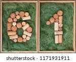 number 61 sixty one  made of... | Shutterstock . vector #1171931911