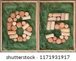 number 65  sixty five  made of... | Shutterstock . vector #1171931917