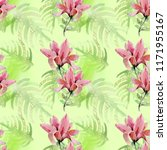 watercolor pattern with...   Shutterstock . vector #1171955167