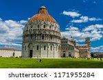 pisa baptistery in front of... | Shutterstock . vector #1171955284