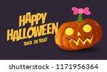 vector happy halloween pumpkins ... | Shutterstock .eps vector #1171956364