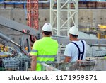 back view of a construction... | Shutterstock . vector #1171959871