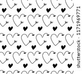 vector illustration. hearts in... | Shutterstock .eps vector #1171969771