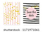 gold glitter sequins with dots. ... | Shutterstock .eps vector #1171971061