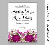 rose floral background for... | Shutterstock .eps vector #1171972954