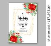 floral background for wedding...   Shutterstock .eps vector #1171973164