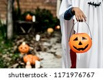 ghost costume for halloween...   Shutterstock . vector #1171976767