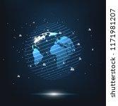 global network connection.... | Shutterstock .eps vector #1171981207