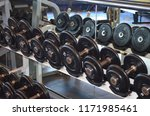 assorted weights in a cruise... | Shutterstock . vector #1171985461