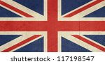 grunge united kingdom flag or... | Shutterstock . vector #117198547