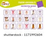 memory game for preschool... | Shutterstock .eps vector #1171992604