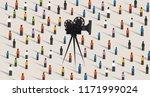 video camera online social...   Shutterstock .eps vector #1171999024