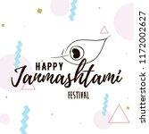 happy janmashtami. vector logo... | Shutterstock .eps vector #1172002627