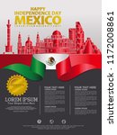 mexico happy independence day... | Shutterstock .eps vector #1172008861