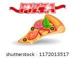 pizza slice  one piece ... | Shutterstock .eps vector #1172013517