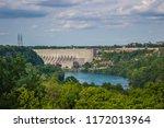 Niagara River Gorge With Dam ...