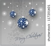 christmas card background | Shutterstock .eps vector #117201601