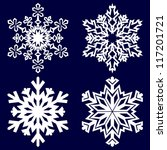 decorative abstract snowflake.... | Shutterstock .eps vector #117201721