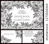 romantic wedding invitation... | Shutterstock .eps vector #1172026564