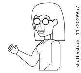 cartoon woman icon | Shutterstock .eps vector #1172029957
