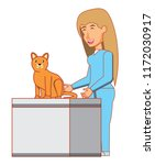 vet and cat design | Shutterstock .eps vector #1172030917