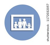 family photo icon in badge... | Shutterstock .eps vector #1172032057