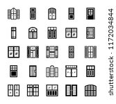 window shutters set  | Shutterstock .eps vector #1172034844