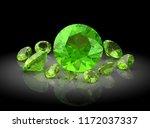 beautiful gems on black...   Shutterstock . vector #1172037337