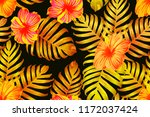orange yellow exotic pattern....   Shutterstock .eps vector #1172037424