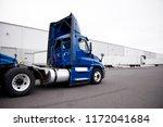 a huge number of big rig semi... | Shutterstock . vector #1172041684