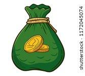 bag full of gold coins ... | Shutterstock .eps vector #1172045074
