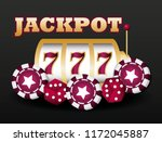 jackpot and casino design | Shutterstock .eps vector #1172045887