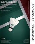 badminton championship poster... | Shutterstock .eps vector #1172050771