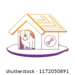 cute pet house | Shutterstock .eps vector #1172050891