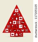 Abstract Christmas Tree Made O...