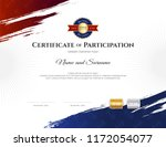 certificate template in rugby... | Shutterstock .eps vector #1172054077