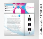 web site template vector with... | Shutterstock .eps vector #117205474