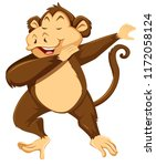 a monkey dab on white... | Shutterstock .eps vector #1172058124
