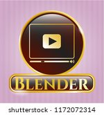 gold badge or emblem with... | Shutterstock .eps vector #1172072314