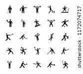 sportsman glyph icons   | Shutterstock .eps vector #1172074717
