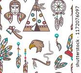 native american indians... | Shutterstock .eps vector #1172076097