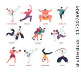 fighting and martial sport arts.... | Shutterstock .eps vector #1172076904