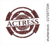red actress distress grunge seal | Shutterstock .eps vector #1172077234