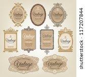 vintage labels | Shutterstock .eps vector #117207844