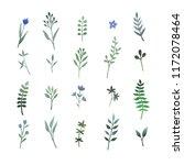 set of hand drawn illustrations ... | Shutterstock .eps vector #1172078464