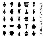 Pottery Glyph Icons Set