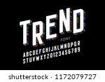 modern font design  alphabet... | Shutterstock .eps vector #1172079727